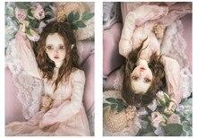 BJD pop haar pruiken imitatie mohair super zacht voor 1/3 1/4 1/6 BJD DD SD MSD YOSD pop lange krullend teddy bruin haar pruiken