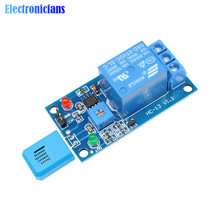 HR202 DC 5 в 1 канал 1CH 5 в влажности чувствительный релейный модуль контроллер влажности Датчик влажности модуль с индикатором