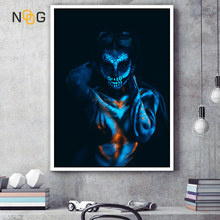 NOOG Abstract Fluorescent Makeup Poster Print Fashion Women Canvas Printing Nordic Art Wall Living Room and Bedroom Decoration