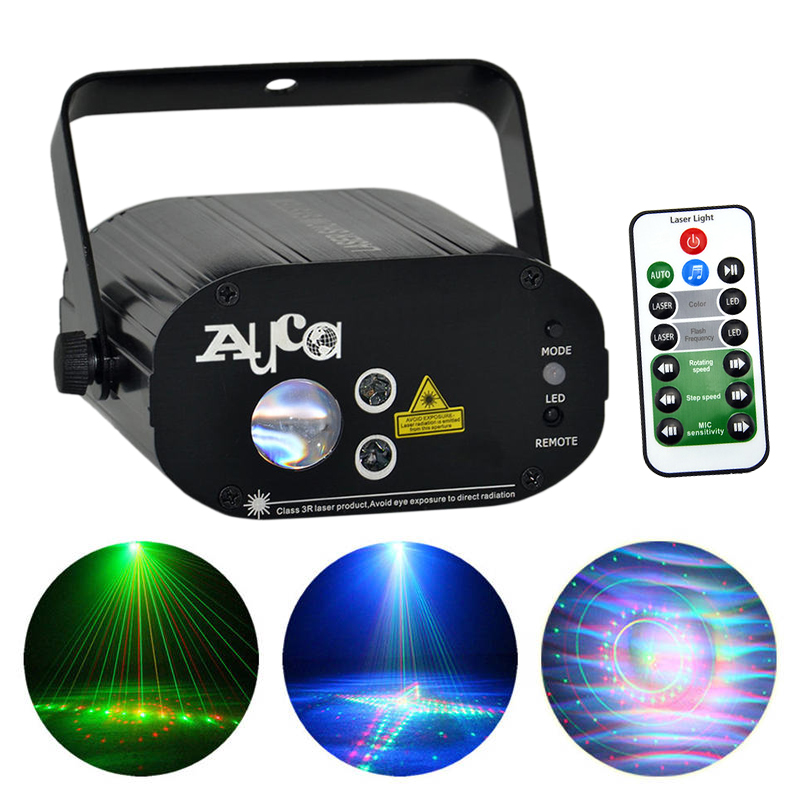 AUCD Mini AC 110-240V 3W RGB LED Lights 20 Patterns IR Remote Voice Control Mini Projector Machine Laser Stage Lighting W-20RG aelicy women fashion handbag crack shoulder bag large tote ladies purse messenger bag solid bag bolsa feminina bags women 0829