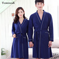 Nightgown For Men Autumn Women's Robe long design knitted cotton bathrobes Lovers Thin loose sleepwear plus size 3XL