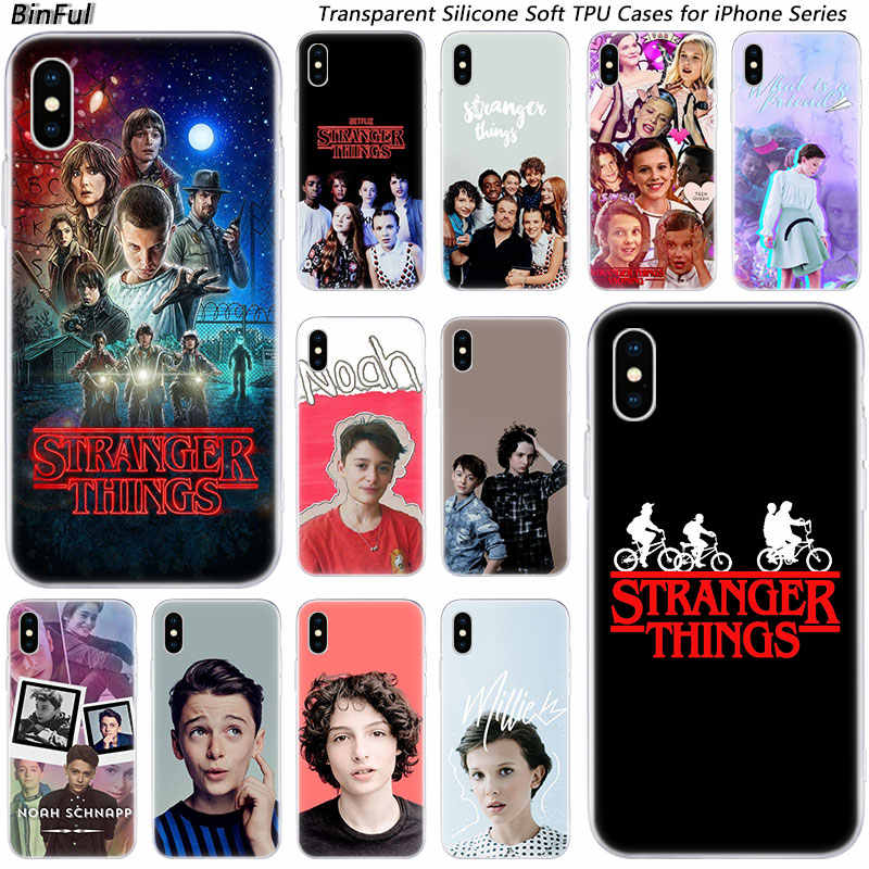 Hot Stranger Things Silicone Fashion Transparent Case for Apple iPhone 11 Pro XS MAX XR X 7 8 Plus 6 6s Plus 5 5C 5S SE Cover