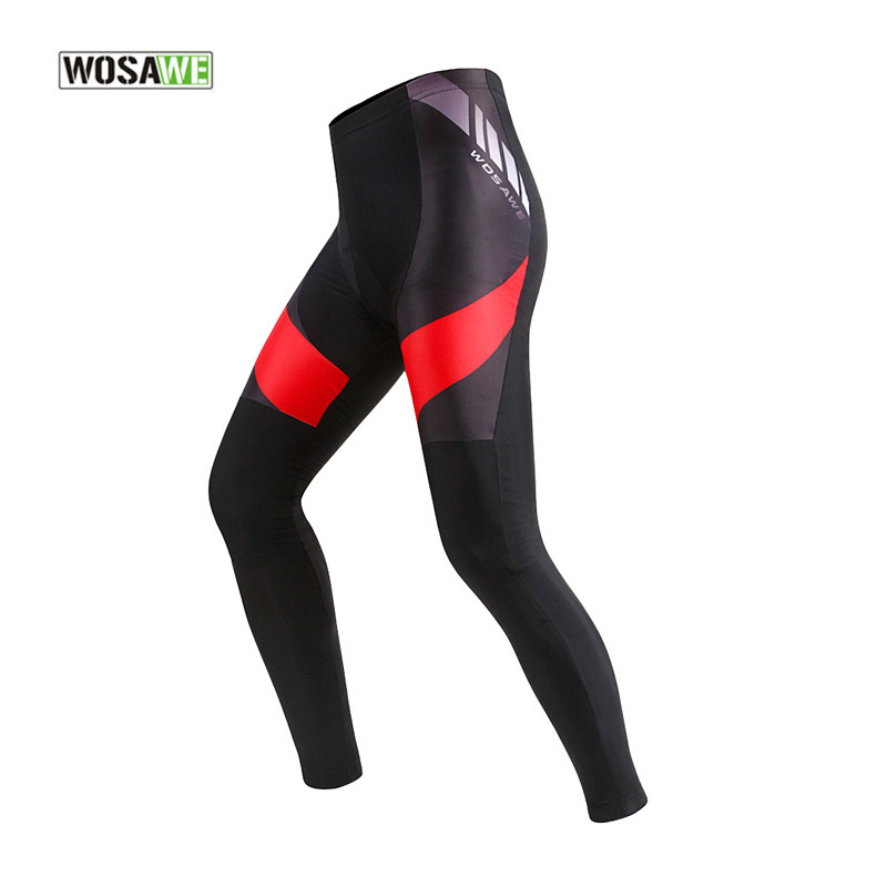 WOSAWE Mens Bicycle Fleece Tights Pants Cycling Winter Warmer Underwear Long Trousers Trousers Legging Pants