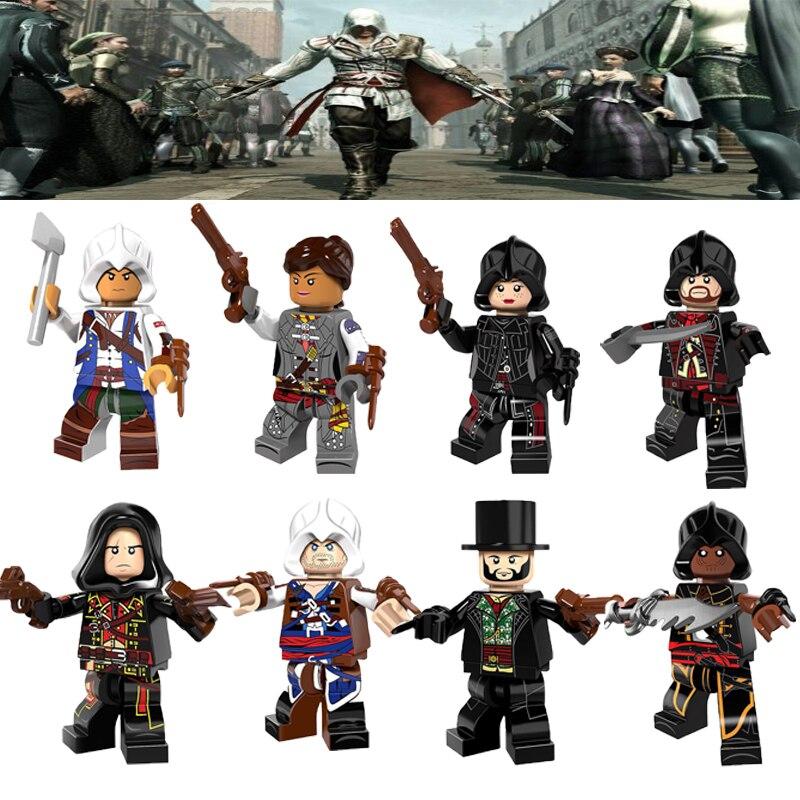 Single Assassin Series Kenwey Florence Dorian Cormac Dolls Legoelys Building Action Figures Bricks Toys For Children