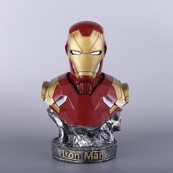 Large 36cm Resin Iron Man Statue Toy Home Decor Figure Model Avengers Figurine Birthday Gift for Man Boy Marvel Toys