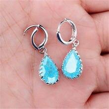Голубые изысканные циркониевые серьги rongqing для девочек без