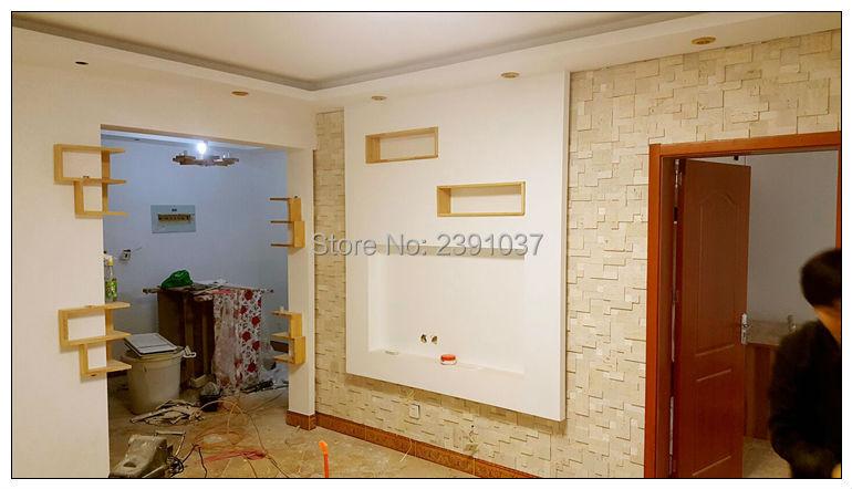 Hohe Qualität Marmor Stein mosaik fliesen anti staub Natürliche Marmor Küche Back Wand Fliesen Dekoration Material 1 BOX (5 blätter) - 4