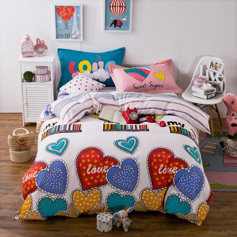 new arrival hot sale 100 cotton bedding sets cloud printed home textile 4 pcs queen