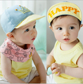 Free Shipping 2015 New Arrival 5pcs/lot Fashion Cute Baby Happy Letters&Crown Caps Boys Sun Hats Kids Baseball cap