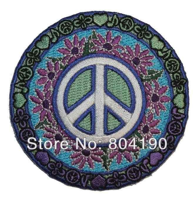 Татто знак мира Маргаритка хиппи бохо Ретро цветок Любовь хиппи трава металлическая аппликация патч для девочек детское платье оптовая продажа бесплатная доставка