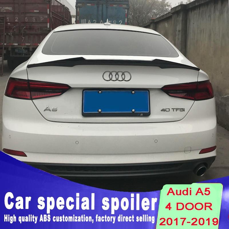 high quality ABS spoiler for Audi A5 4door 4 door spoiler by 2017 2018 2019 rear spoiler DIY color paint balck white