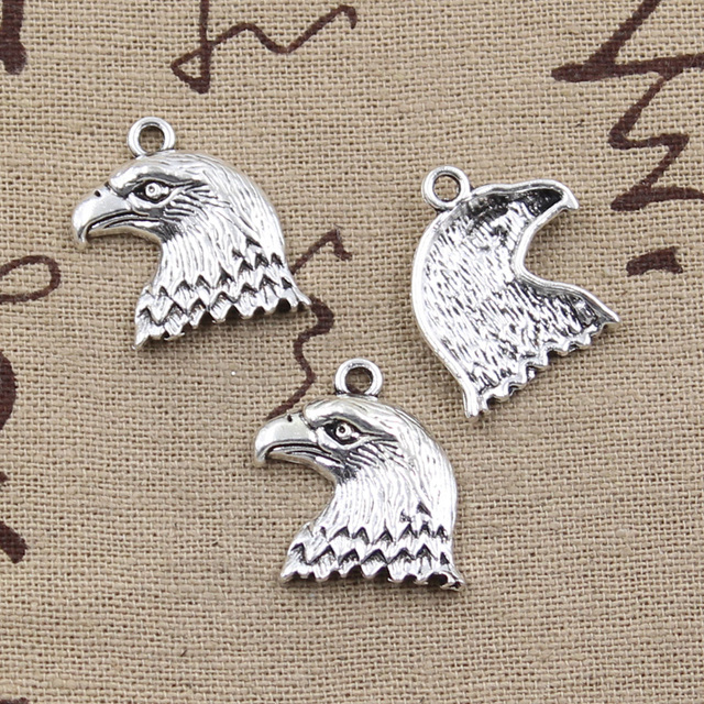 10pcs charms hawk eagle 2119mm antique silver plated pendants 10pcs charms hawk eagle 2119mm antique silver plated pendants making diy handmade tibetan silver aloadofball Image collections