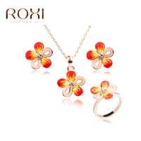 ROXI TOP Quality Trendy Baby Girl Orange White Porcelain 100 Man Made Jewelry Sets Polymer Clay