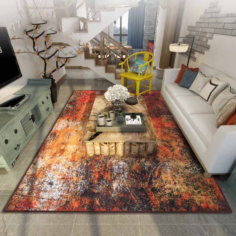 2017 European Industrial Age Carpet Living Room Bedroom Bedside Mat Coffee  Table Bblanket Art Simple Modern Rectangular Custom In Carpet From Home U0026  Garden ...