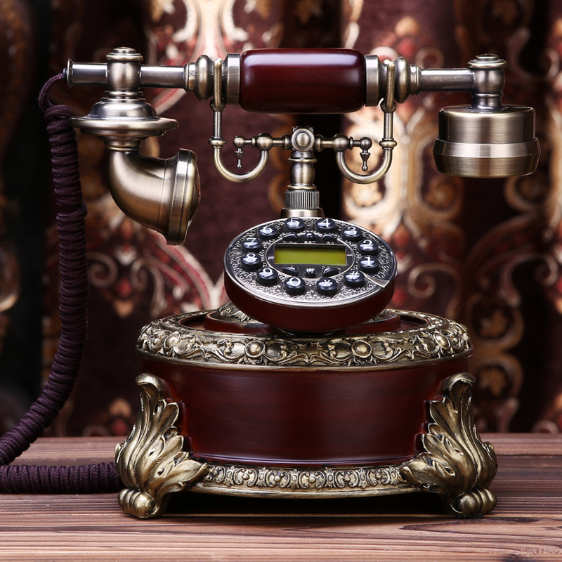 Ye are the top phone antique continental Retro Vintage telephone home office fixed landline phone Decoration home art