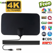 Kebidumei внутренний HD усилитель сигнала цифровая ТВ антенна HD tv 4K 50 Miles диапазон 25DB для VHF UHF HD ТВ антенна ТВ приемник сигнала