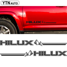 2PC free shipping hilux racing side stripe graphic Vinyl sticker for TOYOTA HILUX decals цена в Москве и Питере
