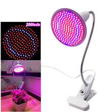 200 Led plant grow light bulbs lighting with desk Clip holder for flower seeds hydroponics hydro system indoor garden greenhouse