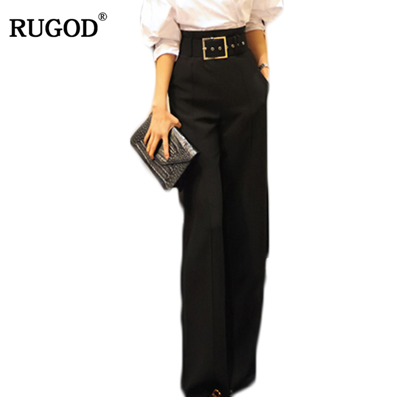 RUGOD Women OL High Waist Harem Pants Women Fashion Straight Trousers For Office Lady Female Casual Long Pants Pantalon Femme