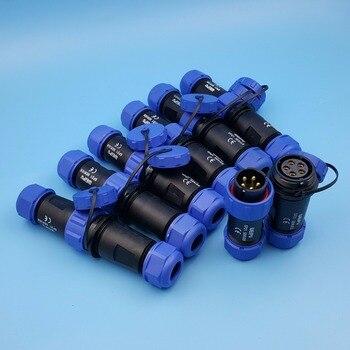 1 Unidades SP21 2/3/4/5/7/9/12 Pin Cable trasero impermeable IP68 macho y hembra Circular de aviación conector de enchufe