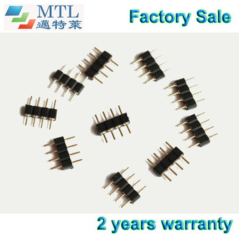 Pin header connector male, 4pin/pcs, for rgb led connector, 1000pcs/lot, 2.54mm pin distance, Factory Wholesale