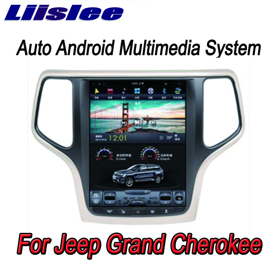Liislee 2 din Android For Jeep Grand Cherokee Big Screen Car Multimedia Player GPS Navigation Video Radio Bluetooth image