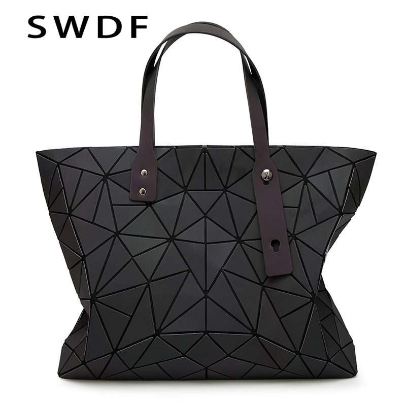 SWDF Women PU Leather Shoulder Bag Geometric Luminous Diamond Bags Women Lattice Messenger Bags Luxury Handbags Women DesignerSWDF Women PU Leather Shoulder Bag Geometric Luminous Diamond Bags Women Lattice Messenger Bags Luxury Handbags Women Designer