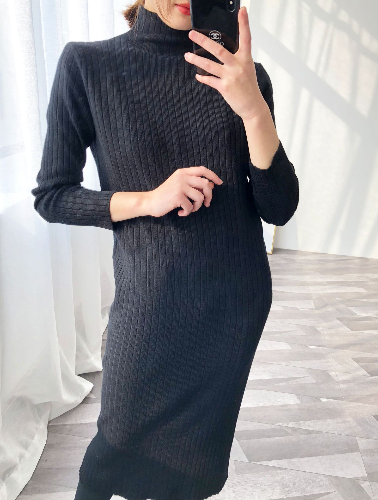 Women maxi dress Spring autumn 2019 new fashion Long Sleeve Sweater Knitted Dresses sexy Pencil Casual bodycon dress Vestidos