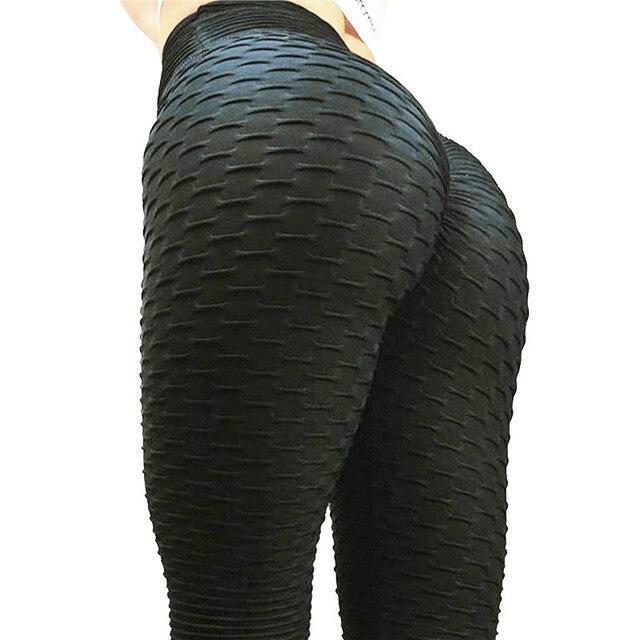 SVOKOR Fitness Female Leggings Polyester Ankle-Length Breathable Pants Leggins Women Standard Fold Push Up  Legging 4