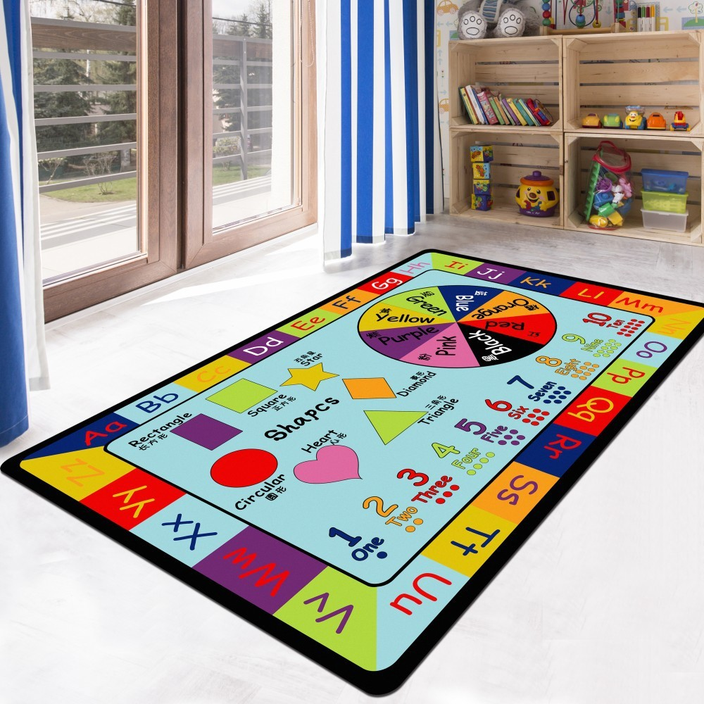 DeMissir Cartoon Large Carpet For Children A Living Room Kids Crawl Pad tappeto alfombras Play Rug tapetes teppich