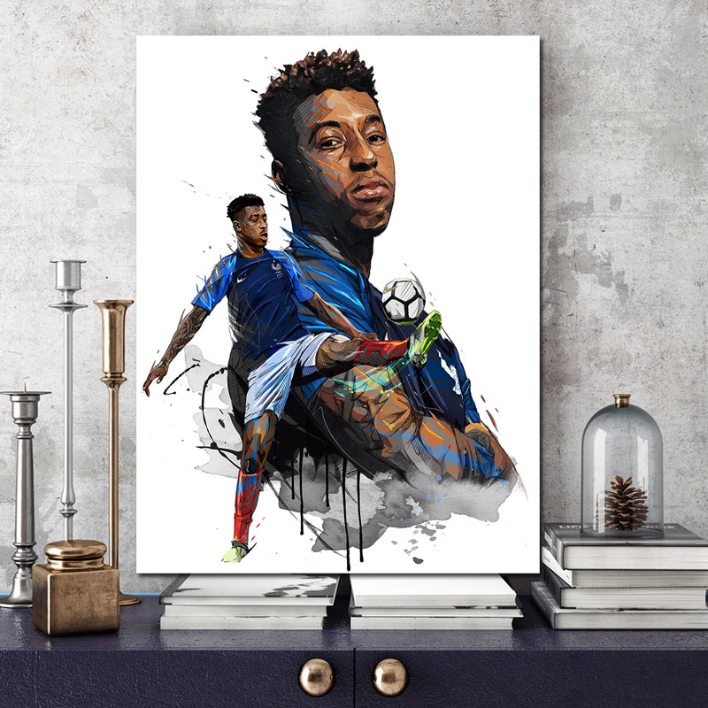 France Soccer Player Wall Pictures Canvas Painting Print Living Room Home Decoration Modern Wall Art Oil Painting Sport Poster in Painting Calligraphy from Home Garden