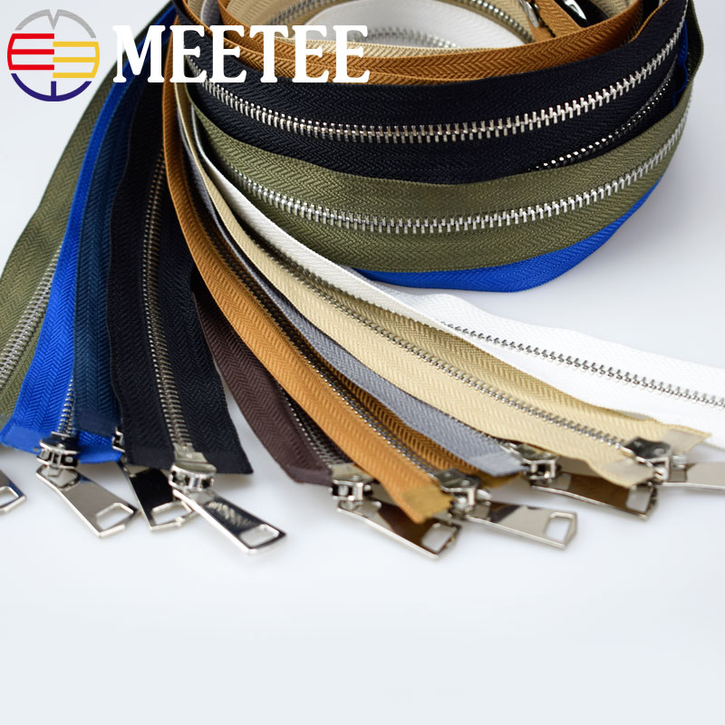 1Pc Silver Teeth 5 120cm Double Sliders Metal Zipper For Sewing Open end Zippers For Jackets Coat DIY Garment Accessories A3 8 in Zippers from Home Garden