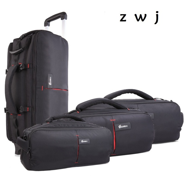 High-capacity photography Travel Bag Rolling Luggage Multi-function Camera Backpack Suitcase On Wheel