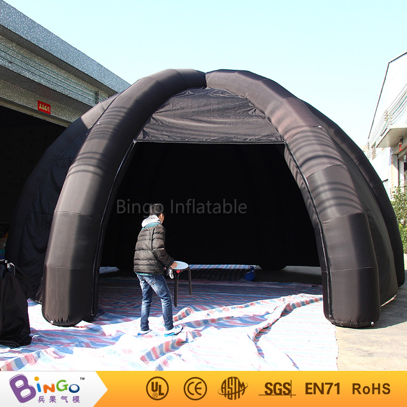 Free Express China inflatable tent manufacturers inflatable garage cabin spider black color blow up marquee toy tent стоимость