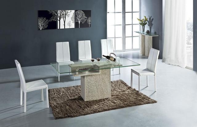 Smart set tavolo da pranzo di alta qualità pietra naturale marmo
