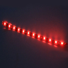 цена на 2PCS New 30cm 5050 12 LED Red Car Flexible Strip Light Waterproof For Auto Boat Truck Decor Lamp Car Styling 12V DC