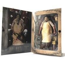 18 cm NECA 40th Anniversary Ultimate Leatherface Klasik Terör Film Teksas Katliamı Action Figure