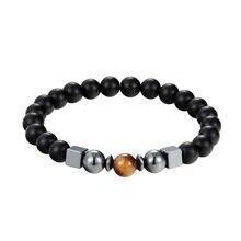 JAAFAR натуральные украшения Лава каменный шар браслет из вулканического камня Камень Чакра лечебный браслет мужской Шарм браслет AS410