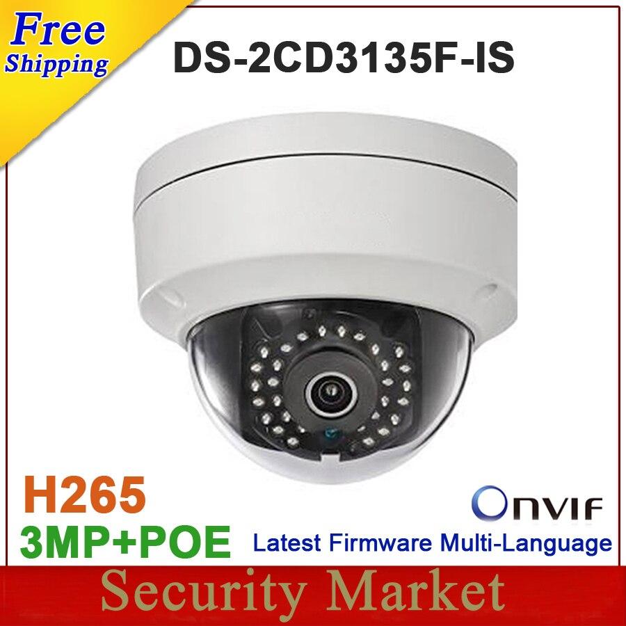 bilder für Neue ankunft DS-2CD3135F-IS ersetzen DS-2CD3132-I DS-2CD3145F-IS 3MP sd-karte dome Audio POE IP netzwerk kameras IPC DS-2CD3135F-IS