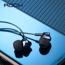 ROCK 3.5mm Jack In Ear Music Oortelefoon met Microfoon Game Headsets HiFi Bass Stereo Geluid Voor iPhone Huawei Samsung Mobiele telefoons