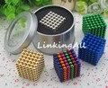 5mm/3mm 216 unids metaballs bolas magnéticas imán bloque neo cubo mágico juguetes rompecabezas cubo mágico + caja de metal