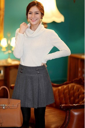c420835ded0 Woolen skirts New fashion female work wear woolen slim hip plus size skirts  ol career medium professional skirt XS to 7XL skirt