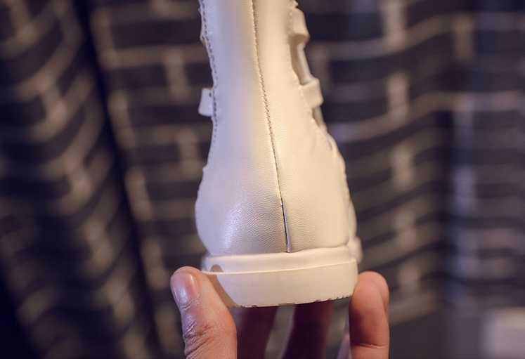 2019 yaz yeni burnu açık kızlar serin botlar çocuk moda Roma rüzgar sandalet kızlar gösterisi ayakkabı siz26-36