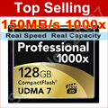 Full Capacity 1000X UDMA 7 Compact Flash CF Memory Card 128GB MLC For Cameras DVR , Free shipping SPCF128L Retail Packaging