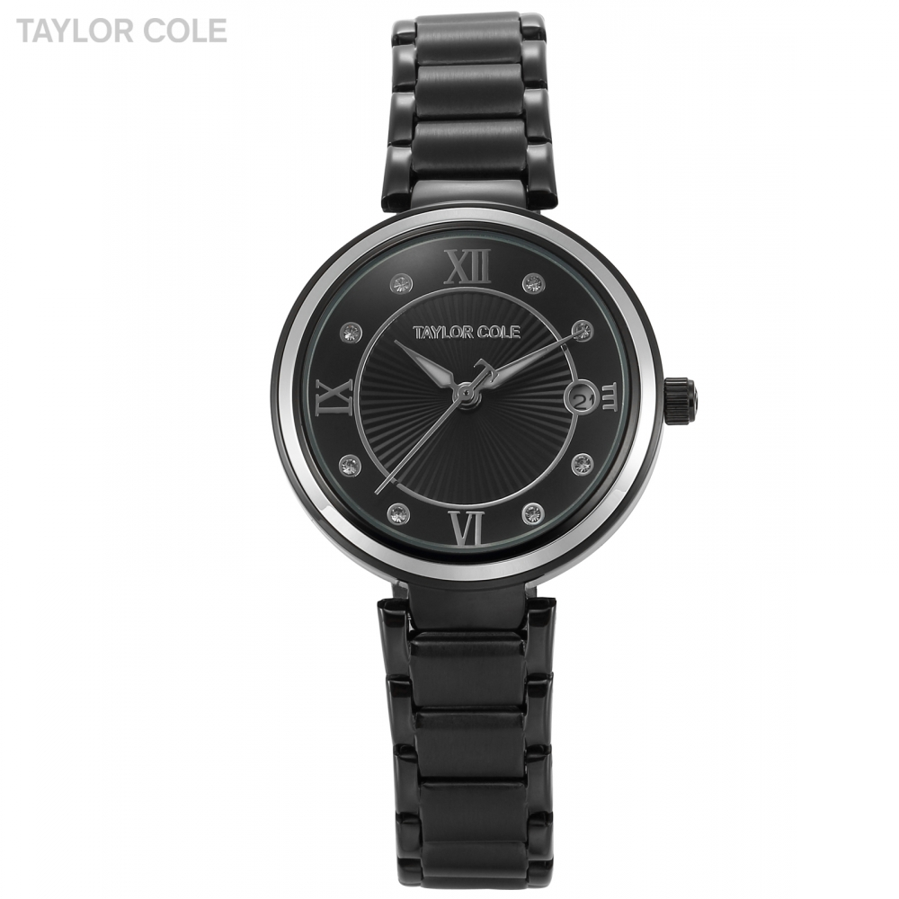 Taylor Cole Brand Montre Femme Marque De Luxe 2017 Numeral Date Crystal Relogio Women Steel Bracelet Lady Quartz Box Watch/TC069 цена и фото
