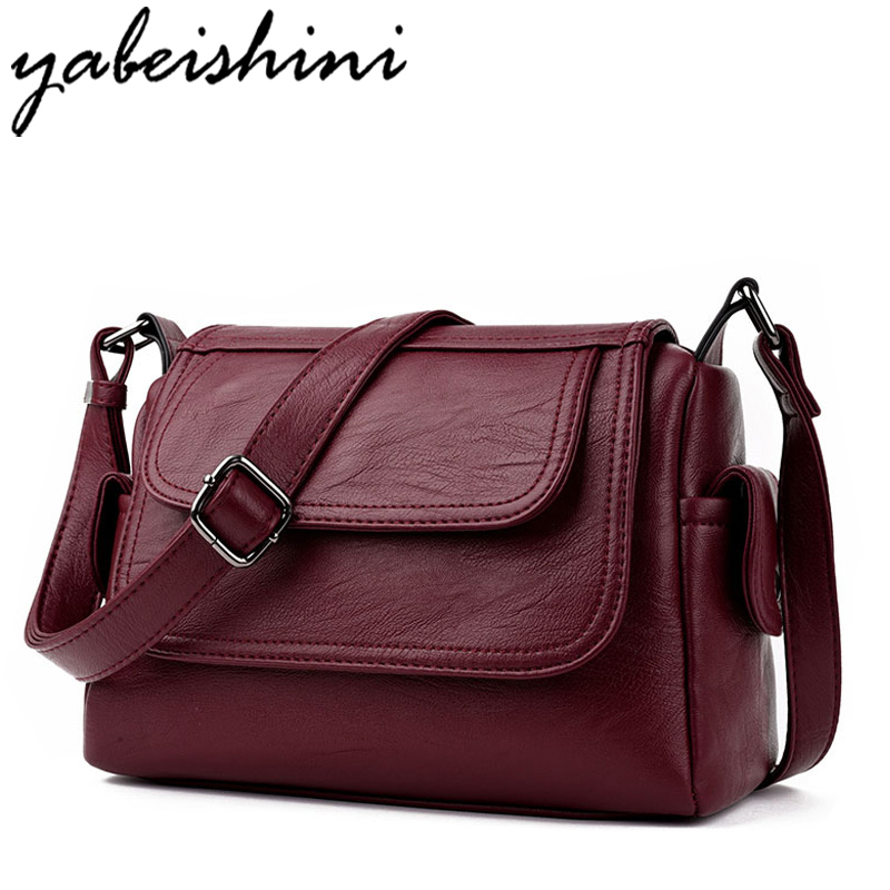 YABEISHINI Brand Fashion Women Messenger Bags PU Leather Bags Women Handbags High Quality Crossbody Shoulder Bags Clutch bag bailar fashion women shoulder handbags messenger bags button rivets totes high quality pu leather crossbody famous brand bag