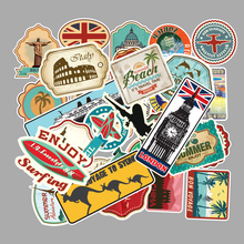 100pcs/pack Travel Map Graffiti Sticker for Suitcase Mobile Phone Skateboard Waterproof and Sun Protective DIY