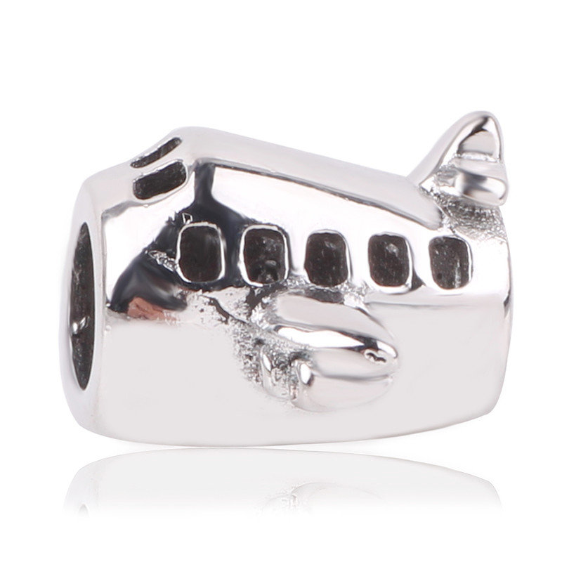 dodocharms New 925 Sterling Silver Aircraft Plane Beads For Women Fit Original Pandora C ...