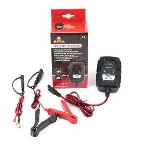 Image 4 - FOXSUR 6 V 12 V 1A Automatische Smart Batterie Ladegerät Betreuer für Auto Motorrad Roller Batterie Ladegerät mit SAE Schnell stecker
