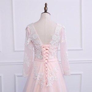 Image 5 - Asil WEISS Robe De Soiree aplikler seksi uzun abiye gelin ziyafet zarif mahkemesi tren Custom Made balo elbise